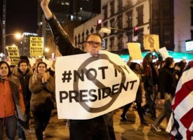 "Crece el ""Not my president"" en EEUU; es ""injusto"", dice Trump"