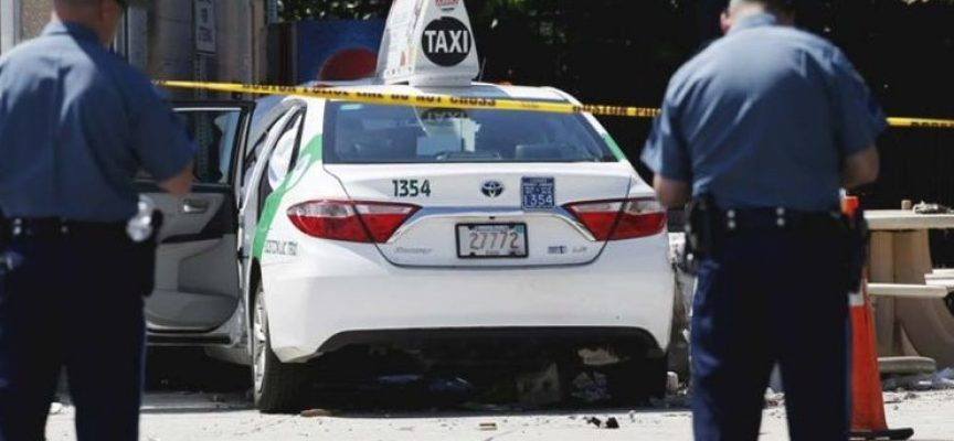 Taxista arrolla y lesiona a 10 colegas en Boston