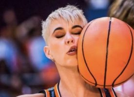 Katy Perry debuta en la NBA