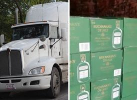 Decomisan 10 mil botellas de whisky en Matamoros